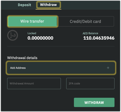 How to Withdraw AED from Emirex Account via International Wire Transfer (SWIFT) to Your Bank Account