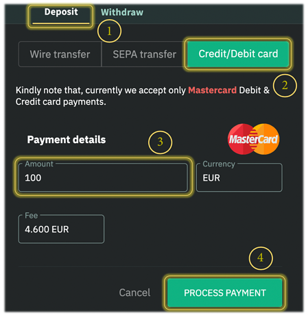 How to fund your Emirex account using Mastercard Debit/Credit cards